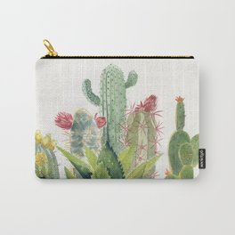 Cactus Watercolor Carry-All Pouch