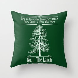 No. 1 The Larch Throw Pillow