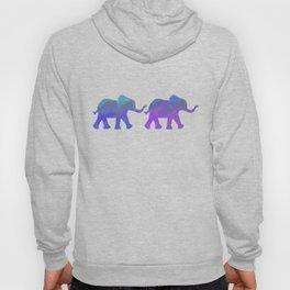 Follow The Leader - Painted Elephants in Royal Blue, Purple, & Mint Hoody