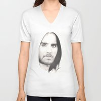 jared leto V-neck T-shirts featuring jared leto... by als3