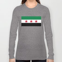Independence Flag of Syrian, High quality Long Sleeve T-shirt