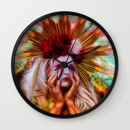 The Fx of 2 much Star Gazing  Wall Clock