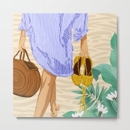 I followed my heart & it led me to the beach #painting #travel Metal Print