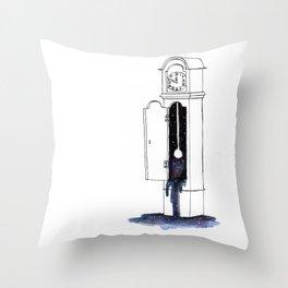 Cosmic Clock Throw Pillow