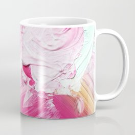 Minty Rose (Abstract Painting) Coffee Mug