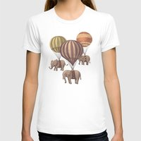 background T-shirts featuring Flight of the Elephants  by Terry Fan