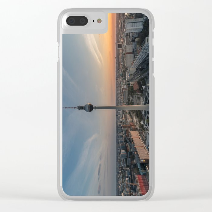 TV Tower at Sunset Clear iPhone Case