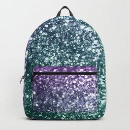 Aqua Purple Ombre Glitter #4 #decor #art #society6 Backpack