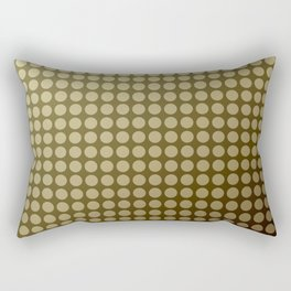 Olive green polka dot pattern . Rectangular Pillow