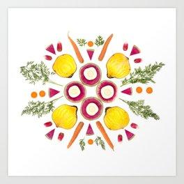 Parsnip Snowflake Art Print