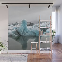 Jokulsarlon Glacier Lagoon Icebergs Wall Mural