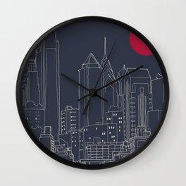 Philly Blueprint Wall Clock