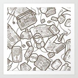 Audiophile Graveyard: Black Art Print