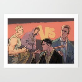 Thugs and Pros Art Print
