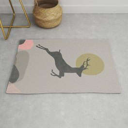 Deer Print, Woodlands Decor, Wall Art, Animals Print, Woodlands Nursery Art, Kids room Decor Rug