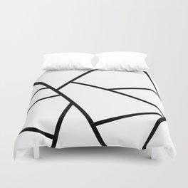 Black and White Fragments - Geometric Design I Duvet Cover