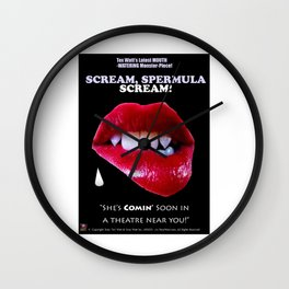 SCREAM, SPERMULA, SCREAM!- Sneak Peak Movie Poster Art Wall Clock