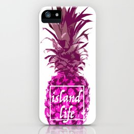 Island Life, Pink Pineapple iPhone Case