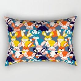 Rabbit colored pattern no2 Rectangular Pillow