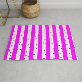 Pink and white stripes Rug