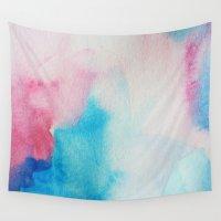 nirvana Wall Tapestries featuring Nirvana by elena + stephann