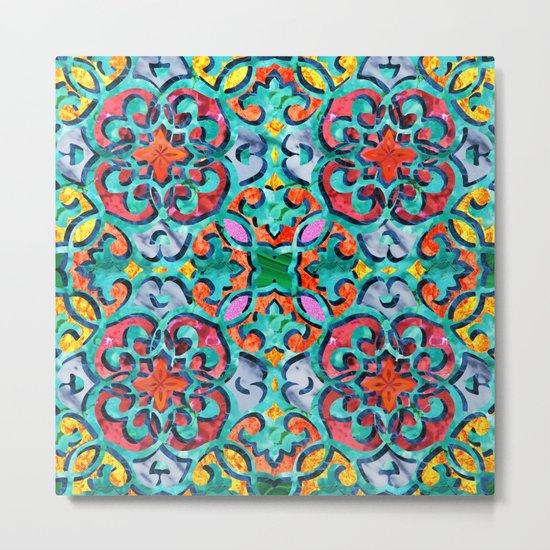 Moroccan Mandala Tile 01 Metal Print