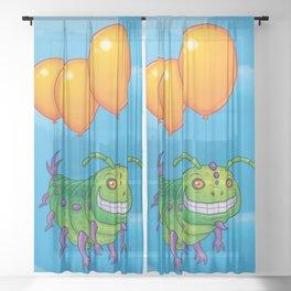 Impatient Caterpillar Sheer Curtain