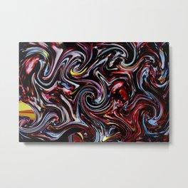 Universum Red Metal Print