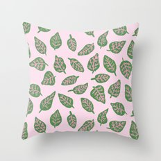 Fittonia Leaves Throw Pillow