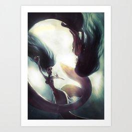 Mermaids game Art Print