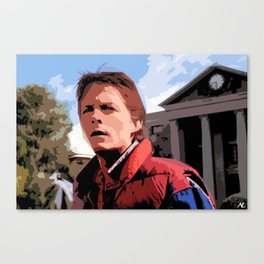 Back to the Future Marty Mcfly Sci-Fi Movie Pop Art Poster Canvas Print
