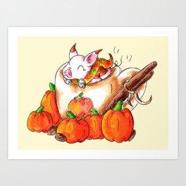 Pumpkin Spice Piggy Art Print