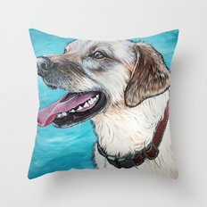 Yellow Lab Brody Throw Pillow