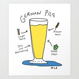 Beer Styles - German Pilsner Art Print