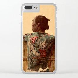 Tattooed Samurai Clear iPhone Case