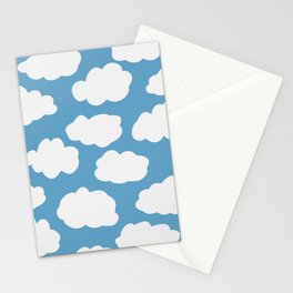 Blue Sky and Fluffy White Clouds Stationery Cards