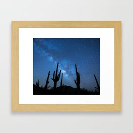 Milky Way, Dreams and Succulents Framed Art Print