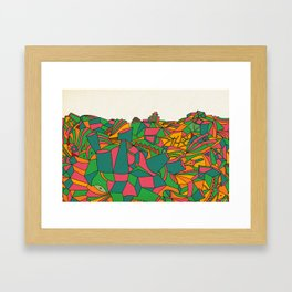 - missing ghost city - Framed Art Print