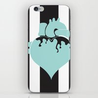 pastel goth iPhone & iPod Skins featuring Pastel Goth Heart by Minette Wasserman