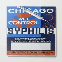 Vintage poster - Syphilis Metal Print