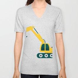excavator Unisex V-Neck
