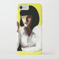 mia wallace iPhone & iPod Cases featuring Mia Wallace by Clotilde Petit