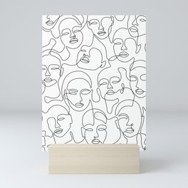 Crowded Girls Mini Art Print