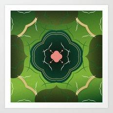 Vintage Tiles Green Art Print