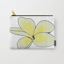 Frangipani Plumeria Flower Carry-All Pouch