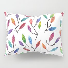 Leafy Twigs - Multicolored Pillow Sham