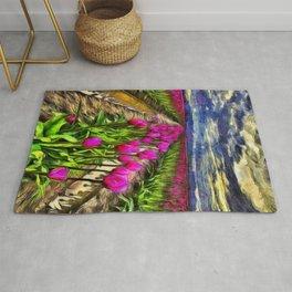 Pink Impression 2 - Digital Painting Rug