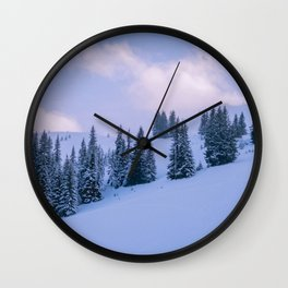 The Winter Woods Wall Clock