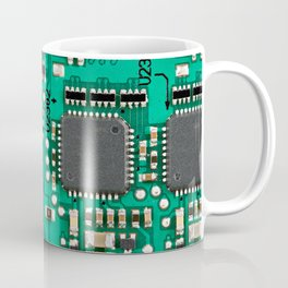 Electronic circuit board with processor Coffee Mug