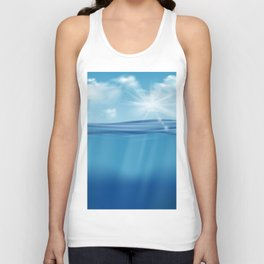 Come, Swim with me - series - Unisex Tank Top
